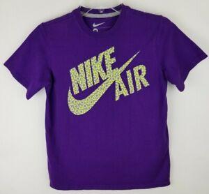 Nike Air Youth Medium Purple Retro Graphics Cotton Short Sleeve T Shirt