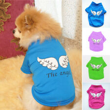 Cute Pet Dog Clothes Cotton T-shirt Small Cat Puppy Vest Wings Print Summer Coat