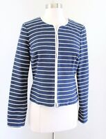 Vineyard Vines Navy Blue White Striped Rope Style Trim Blazer Jacket Nautical 6