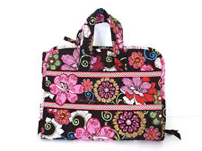 Vera Bradley Accessory Travel Bag Carry Case Mod Floral Brown Jewelry Makeup