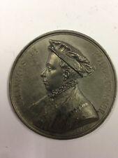 François II - Médaille en etain signée Caqué 1838 - Série Rois de France