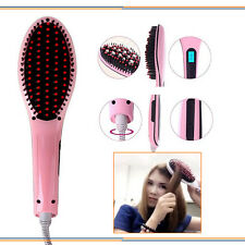 NEW Pink Fast Hair Straightener HQT-906 Straight Hair Styling Tool LCD Control