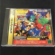 Marvel Super Heroes VS Street Fighter Sega Saturn SS JPN Import USED F/S