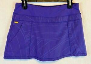 Womans Lolë Quick Dry Stretch UPF50+ Purple Everyday Skort Size M NICE!
