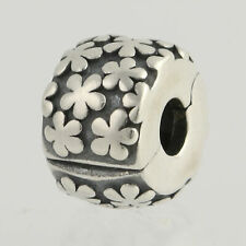 Pandora Flowers Clip Charm - Sterling Silver NEW Authentic Genuine 790533