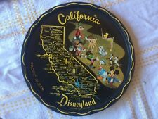 Vintage Disneyland California CA Tray Bambi mickey tinkerbell goofy chip jiminy