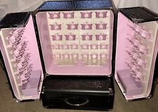 Garrelli Go Girl Exclusive Bare Minerals Clips Train Case Black Pink + Tray LOOK
