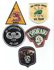 Sale . Lot Of 5 Special Forces Patches - Lot 1