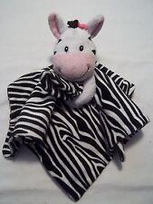 Little Miracles Zebra Security Blanket Lovey Black White Stripes Super Soft