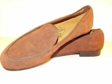 Stylish STUBBS & WOOTTON Brown Suede Slip-On Loafers - Size 5.5/6M