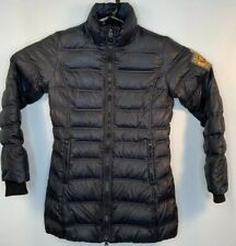 Replay Women's Medium M Black Quilted Down Coat Long Jacket