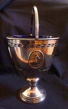 Sterling Silver Pedestal Bowl w/ Handle & 'Hope' Design by Thomas Bradbury 1910