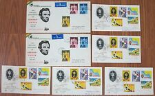 Lot 7x FDC's Ghana Africa First Day Covers 1959 Football & Abraham Lincoln Anniv