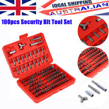 100pcs Chrome Security Bit Tool Set Torx Hex Drill Star Spanner Screw Driver AU