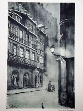 """c71-62 Gravure contes & récits d'Alsace - """"la fête de Noël du Lt Schlosser"""""""