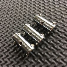 NEW 3 Vintage-style TELE THREADED SADDLES with grub screws for Telecaster guitar