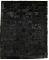 KUHFELL TEPPICH SCHWARZ PATCHWORK 200 x 150 cm COWHIDE RUG