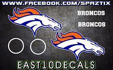 Denver Broncos Cornhole Decal 6 pc Set football sticker package