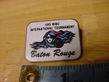 VTG BOWLING PIN PINBACK - 1993 WIBC INTERNATIONAL TOURNAMENT BATON ROUGE