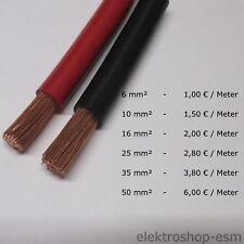 Meterware Stromkabel Batteriekabel Kabel Litze 6 10 16 25 35 50 mm² Leitung