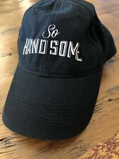 a87dc787c29 So Handsome Baseball Hat Cap Black White Script Lettering Men s One Size -  MINT!