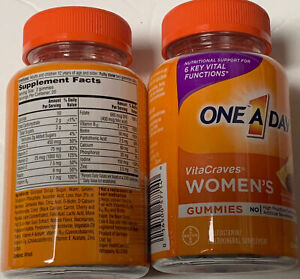 BAYER ONE A DAY Women's VitaCraves Women's Multi Gummies 40 Count EXP 07/22