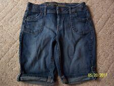 Girls Arizona Bermuda shorts size 12 1/2 PLUS Blue Denim ADJUSTABLE WAIST