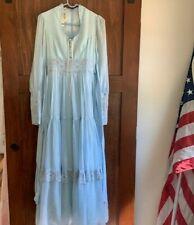 New listing Vintage Gunne Sax Blue Pink Rare Prairie Cottagecore Dress Size 11 M