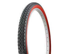 2- DURO WIDE 26 x 2.125 RED WALL BIKE TIRES CRUSIER CHOPPER LOWRIDER BICYCLE