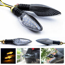 4x Universal 15 LED Motorcycle Motorbike Turn Signal Indicator Light Lamp Amber