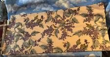 Custom Made Purple Flowers Lined Valance 10� X 42�