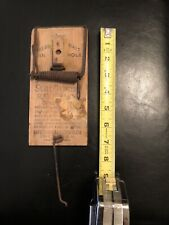Vintage Lovell Manufacturing Co Sure Catch Rat Trap Erie Pa Usa Cool Old Rare 7�