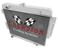 3 Row Cold Champion All Aluminum Radiator for 1966 1967 1968 1969 Dodge Charger