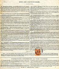 Blanc 3c  N°109 oblitéré sur document avis de percepteur du 16 juillet 1923