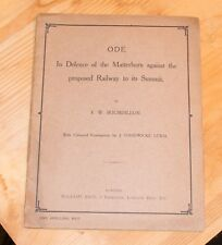 Ode in Defence of the Matterhorn against the Proposed Railway to its Summit 1914