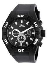 Invicta Specialty 21459 Men's Black Round Analog Day Date 24 Hr Silicone Watch