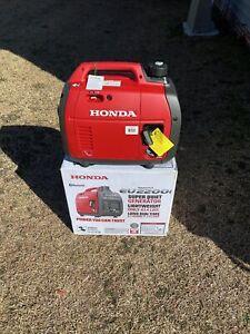 Honda EU2200i 2200-Watt Quiet Gas Power Portable Inverter Generator Bluetooth