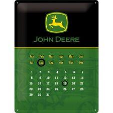 TARGHETTA in Lamiera 23102-John Deere-Logo Black calendario - 30 x 40 CM-NUOVO