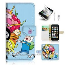 ( For iPhone 5C ) Wallet Case Cover! P0985 Adventure Time