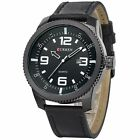 New Military Army Date Sport Brown Leather Strap Men's Analog Quartz Wrist Watch
