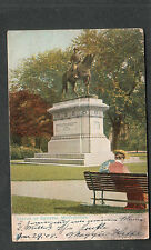 1908 Statue Of General McPherson post card Philadelphia Sta S flag cancel to NY