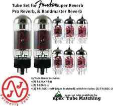 Fender® Super Reverb Pro Reverb & Bandmaster Reverb TUBE SET by JJ Tesla