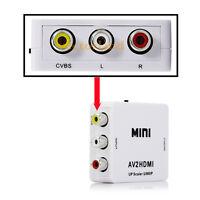 Mini RCA AV to HDMI Converter Adapter Composite AV2HDMI Converter 1080P DVD