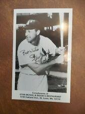 Vintage Photograph Stan Musial & Biggie's Restaurant Baseball Cardinals 1970's