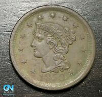 1850 Braided Hair Large Cent --  MAKE US AN OFFER!  #B6236