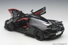 Autoart McLAREN P1 2013 MATT BLACK/RED ACCENTS 1/12 Scale New! In Stock!