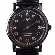 One Hand Luch Mechanical Wristwatch. Men's watch Single hand Black 777479763 RUS