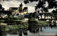 DIEZ a.d. Lahn ~1960 Fluss Partie mit Blick zum alten Schloß Schloss Castle AK