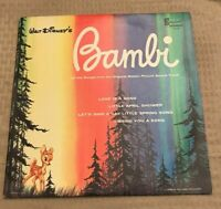 WALT DISNEY Bambi Motion Picture Soundtrack Disneyland Records DQ-1203 LP Album