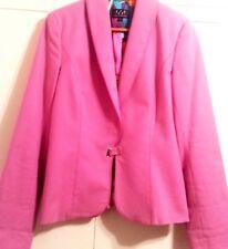 DAVID MEISTER Pink Cotton/Spandex SILK lined Career/Work Blazer/Jacket SIZE 6